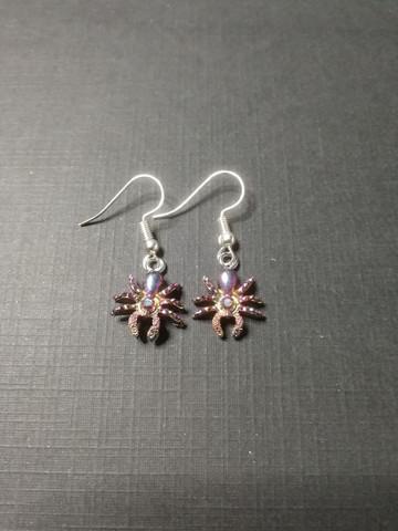 Pink Spider earrings