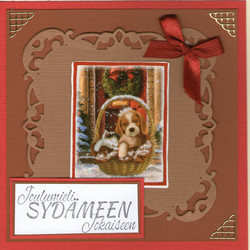 Cat and dog Christmas card