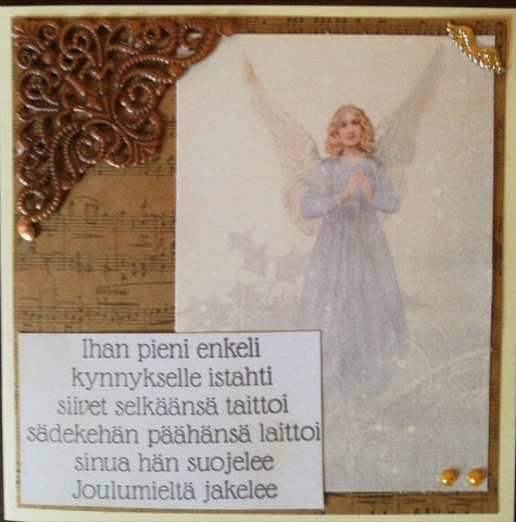 Angel and poem Christmas card