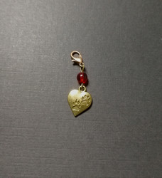 Heart shaped collar charm