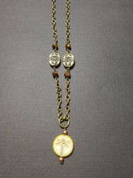 Dragonfly fossil necklace