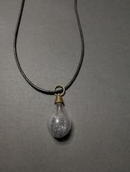 Gray Light Bulb Necklace
