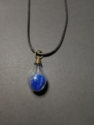 Blue light bulb necklace
