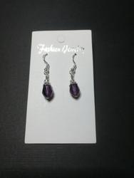 Violet droplet earrings