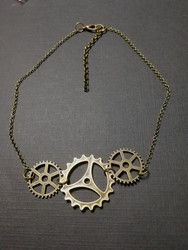 Steampunk Necklace - Three Gears