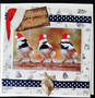 Birds and hats Christmas cards