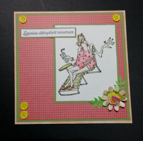 Handmade retairment card women