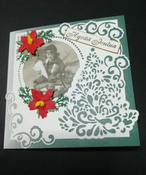 Vintage boy Christmas card