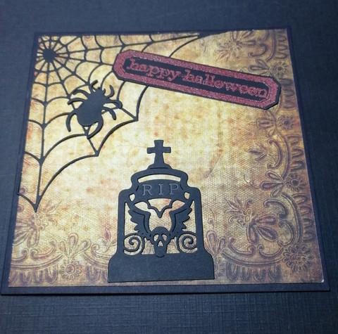 Halloweencard Happy Halloween grave