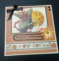 Halloweenkortti nainen