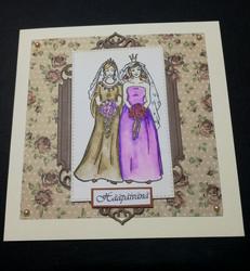 Wedding card two women