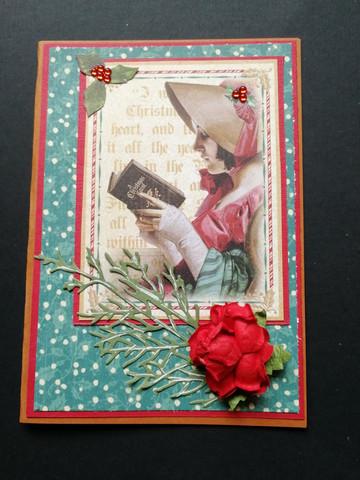 Christmas Card vintage carols