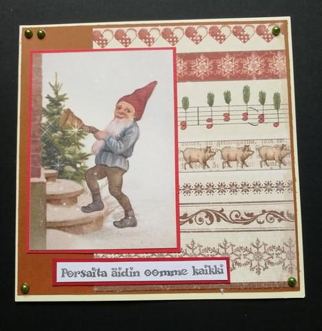 Christmas Card Mum's Little Piggies