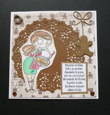 Christmas Card Ginger Bread Poem
