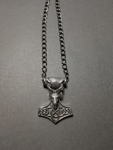 Hammer of Thor with Goat's Head