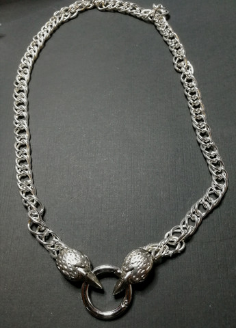 Crow's Skull Double-link Necklace