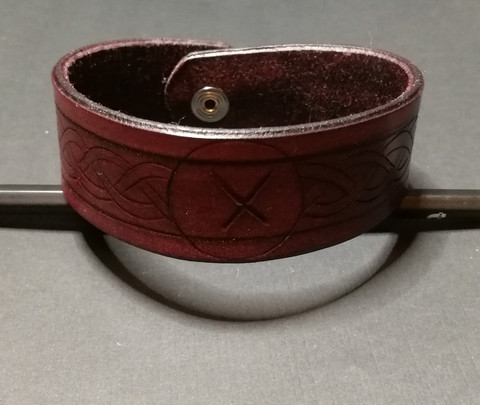 Large Viking Leather Bracelet X