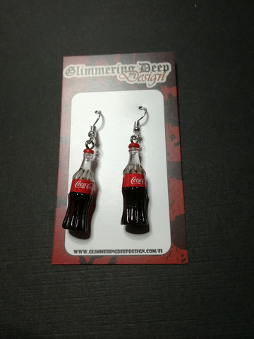 Cola bottle earrings