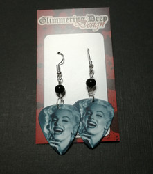 Guitar Pick Earrings, Marilyn 1