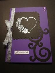 Wedding Card, Black & Violet