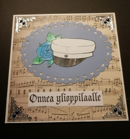 Handmade card graduate music