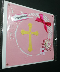 Confirmation card pink cross