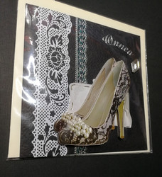 Black shoes card