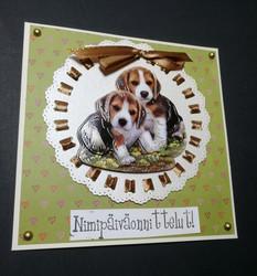 Nimipäiväkortti koirat