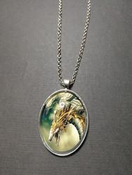 Mecha dragon necklace