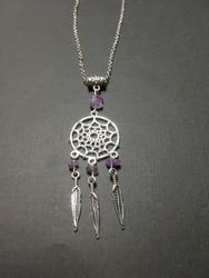 Unisieppari kaulakoru hopea violetilla kivellä