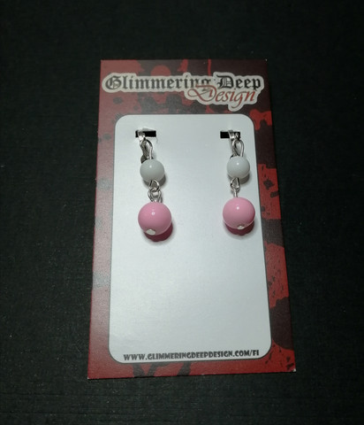 Pastel colored ball clip earrings