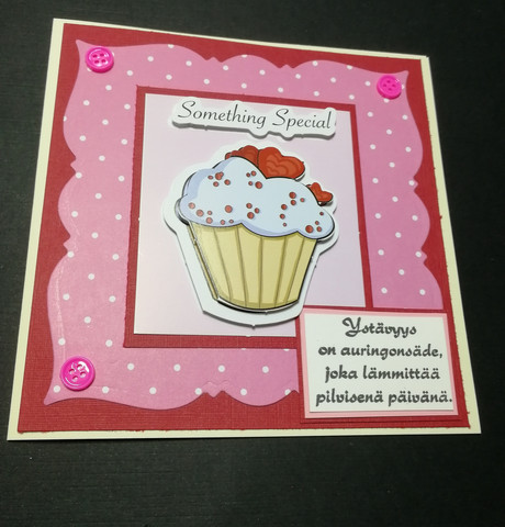 Valentine's Day Card with a muffin