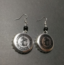 Bottle Cap Earrings with Mice