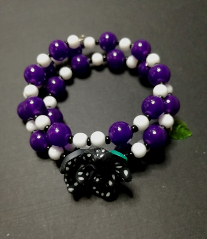 Violet Memory Wire Bracelet