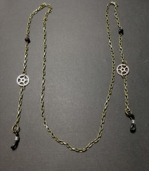 Steampunk chain for glasses