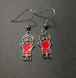 Mummy Earrings with Hearts