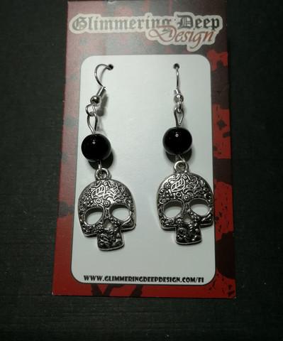 Decorated Skull Earrings