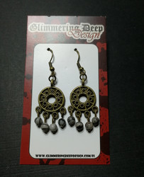 Round Viking Earrings