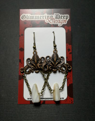 Viking themed chained earrings