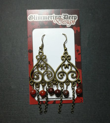 Hanging Viking style earrings