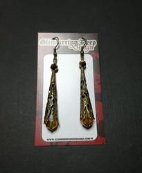 Brown medieval earrings