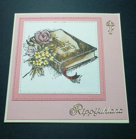 Rippikortti vaaleanpunainen kirja