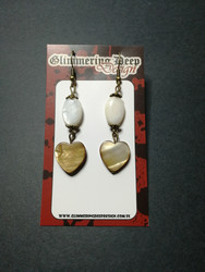 Clam heart earrings