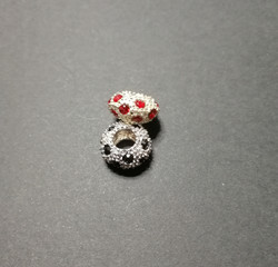 Lock bead red bling bling