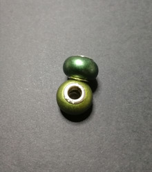 Locs beads pearl darkgreen
