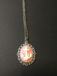 Pink Anchor Necklace