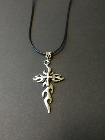 Flaming Cross Necklace