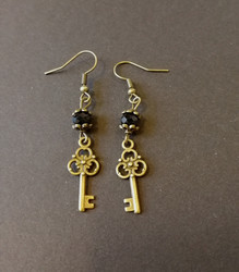 Small key earrings