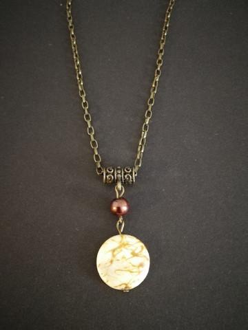 Gold splattered pendant