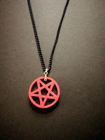 Kaulakoru punainen pentagrammi